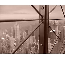Empire State Building Panoramic View, New York, America Photographic Print