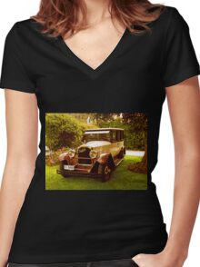 1926 Packard - 333 Limo Women's Fitted V-Neck T-Shirt