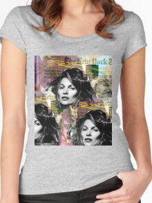 kate moss and biggie Women's Fitted Scoop T-Shirt