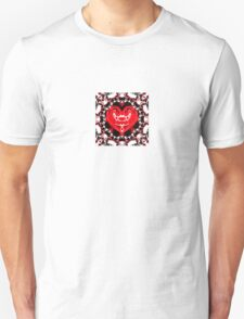 Colorful illustration with hearts, love and harmony concept T-Shirt