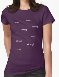 Sherlock Messages - 4 Womens Fitted T-Shirt