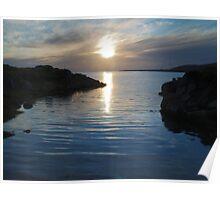 Trawenagh Bay at Sunset 2 Poster