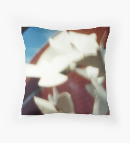 Manchester through a pinhole Throw Pillow