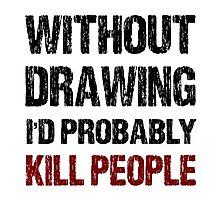 Funny Drawing Shirt Photographic Print