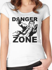 Archer Danger Zone FX TV Funny Cartoon Cotton Blend Adult T Shirt Women's Fitted Scoop T-Shirt