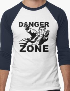 Archer Danger Zone FX TV Funny Cartoon Cotton Blend Adult T Shirt Men's Baseball ¾ T-Shirt