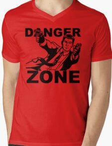 Archer Danger Zone FX TV Funny Cartoon Cotton Blend Adult T Shirt Mens V-Neck T-Shirt