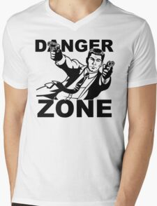 Archer Danger Zone FX TV Funny Cartoon Cotton Blend Adult T Shirt Mens V-Neck T-Shirt