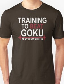 Train Insaiyan Gym Training to Beat Goku or Krillin DBZ Dragon Ball Z T-Shirt