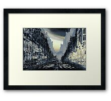Parisian Mosaic - Piece 24 - Rue de Rivoli Framed Print