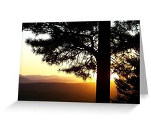 Mountain Sunset Greeting Card
