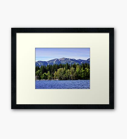 Big Mountain (Whitefish, Montana, USA) Framed Print