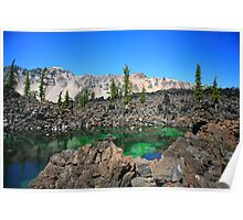 Wizard Island, Crater Lake National Park, Oregon Poster