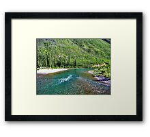 Fishing Paradise (Glacier National Park, Montana, USA) Framed Print