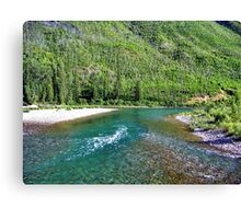 Fishing Paradise (Glacier National Park, Montana, USA) Canvas Print