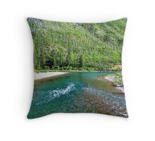 Fishing Paradise (Glacier National Park, Montana, USA) Throw Pillow