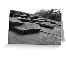 Broken tiles Greeting Card