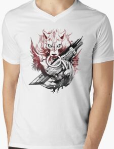 Final Fantasy Amano Homage Mens V-Neck T-Shirt