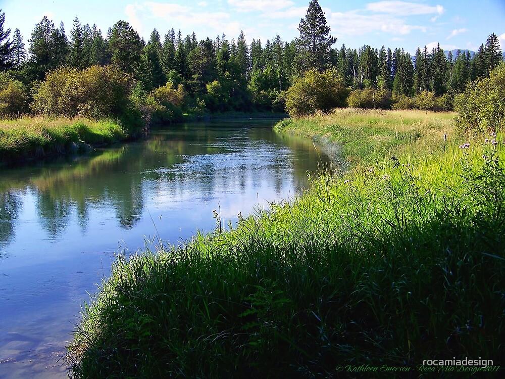 Whitefish River (Whitefish, Montana, USA) by rocamiadesign