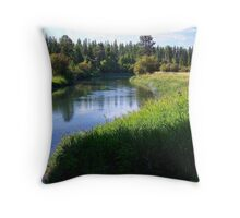 Whitefish River (Whitefish, Montana, USA) Throw Pillow