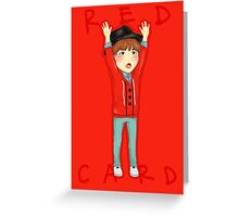 Red Card SUGA Greeting Card