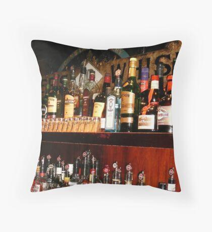 Bar- Dublin, Ireland Throw Pillow