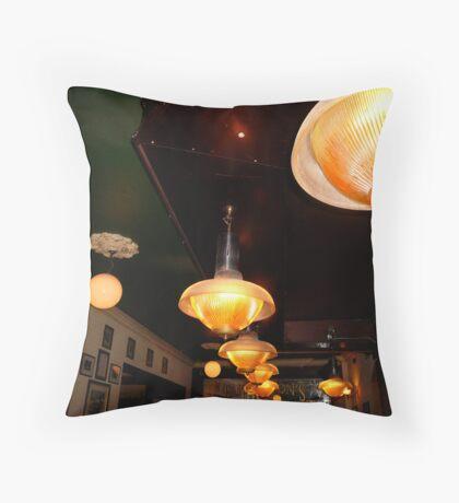 Bar Lights - Dublin, Ireland Throw Pillow