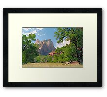 Cathedral Window - Zion National Park Framed Print