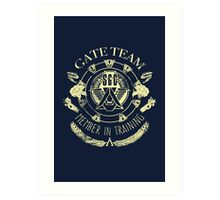 SG1 Gate Team Member In Training Yellow Art Print