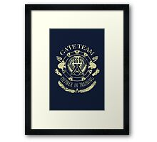 SG1 Gate Team Member In Training Yellow Framed Print