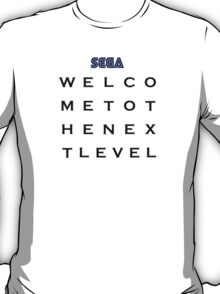 Welcome To The Next Level Black Homage T-Shirt