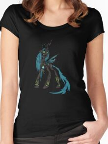 My Little Pony - MLP - FNAF - Queen Chrysalis Animatronic Women's Fitted Scoop T-Shirt