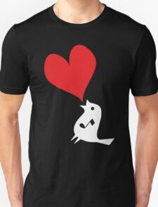 Bird Love heart T-Shirt