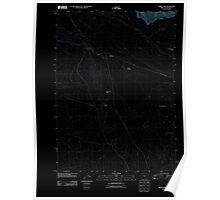 USGS Topo Map Oregon Indian Fort 20110824 TM Inverted Poster