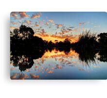 Eyenesbury Lake at Sunset Canvas Print