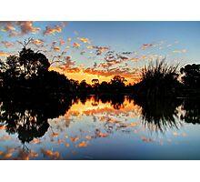 Eyenesbury Lake at Sunset Photographic Print