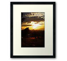 Bus At Dawn Framed Print