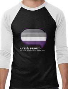 AAW Ace & Proud (Dark) Men's Baseball ¾ T-Shirt