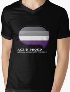 AAW Ace & Proud (Dark) Mens V-Neck T-Shirt