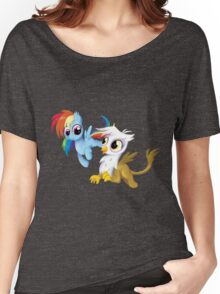 My Little Pony - MLP - Filly Rainbow Dash and Gilda Women's Relaxed Fit T-Shirt