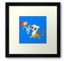 My Little Pony - MLP - Filly Rainbow Dash and Gilda Framed Print