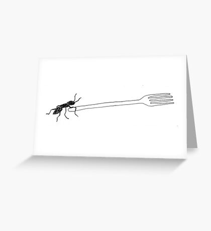then Charlie came to a fork in the road and didn't know which way to go... Greeting Card