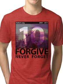 Forgive: 9/11 Ten Year Anniversary Tri-blend T-Shirt