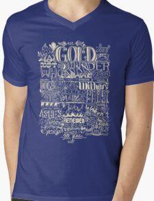 All That is Gold does not Glitter (Light) Mens V-Neck T-Shirt