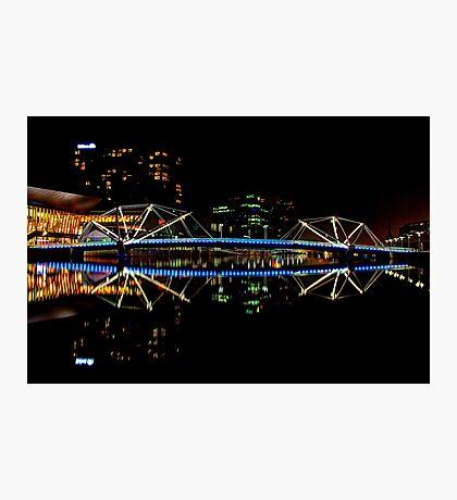 Footbridge over the Yarra - Melbourne Photographic Print