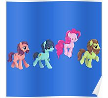 My Little Pony - MLP - Pinkie Pie and The Beatles Poster