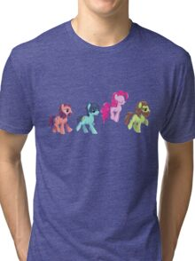 My Little Pony - MLP - Pinkie Pie and The Beatles Tri-blend T-Shirt