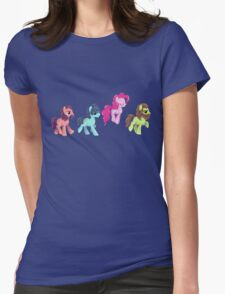 My Little Pony - MLP - Pinkie Pie and The Beatles Womens Fitted T-Shirt