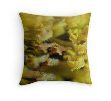 Sunflower Pollen Throw Pillow