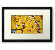 Weekends Are So Crowded Framed Print